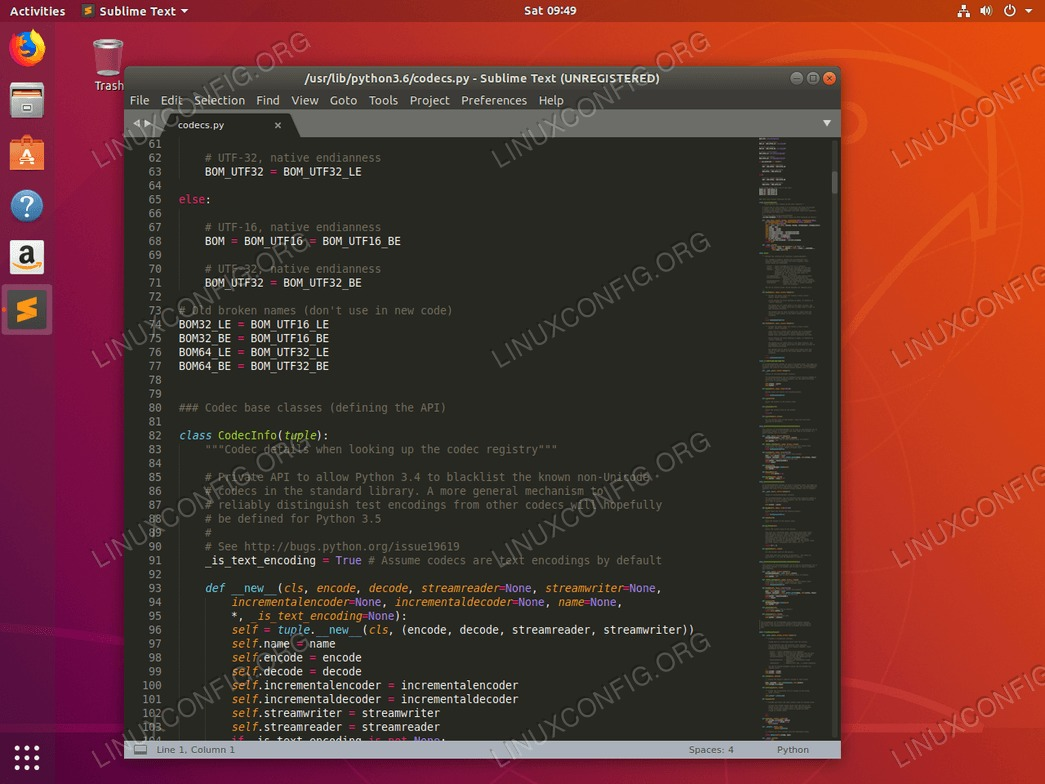 Sublime Text Editor on Ubuntu 18.04