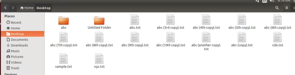 Files successfully created with touch