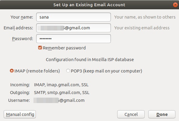 Verify Email account settings