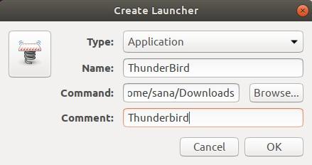 Create launcher Dialogue
