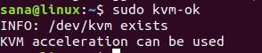 Use kvm-ok command