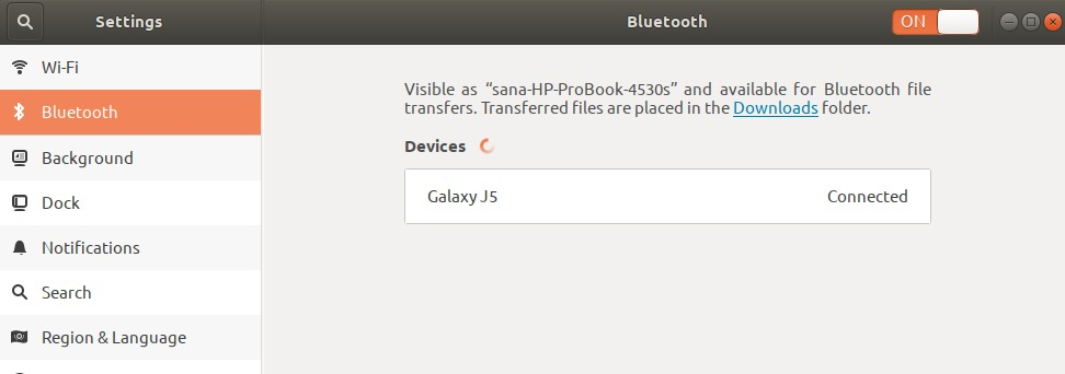 Bluetooth Device Paired