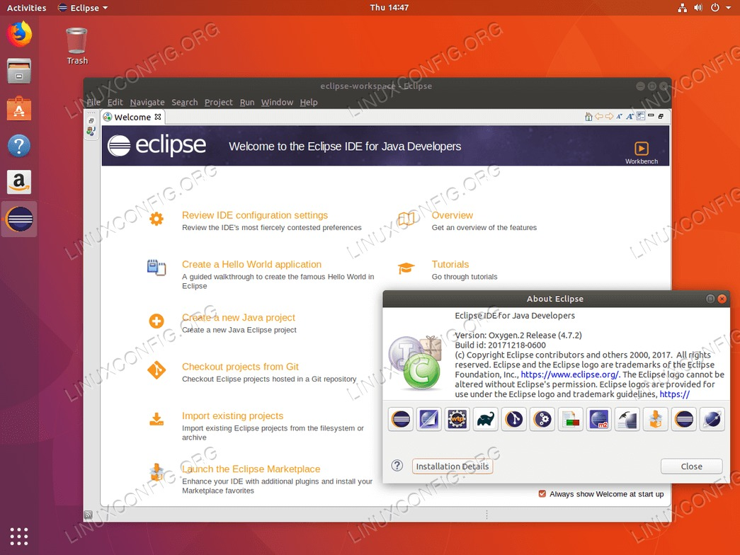 Eclipse Oxygen IDE on Ubuntu 18.04