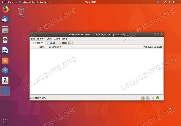 litecoin wallet - ubuntu 18.04 - installed
