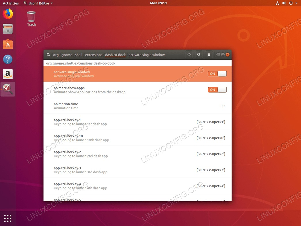 dconf-editor on Ubuntu 18.04