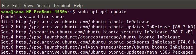 Update Ubuntu repository list