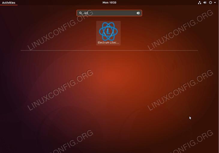 litecoin wallet - ubuntu 18.04 - start