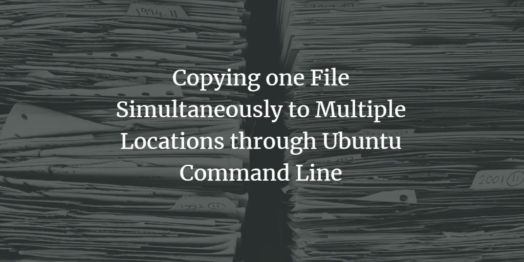 Copy File Simultaniously on Linux