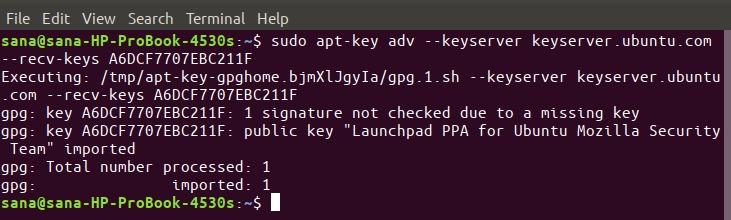 Add Mozilla PPA key