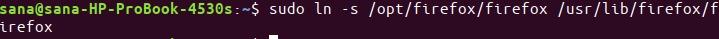 Create Symlink to Firefox binary