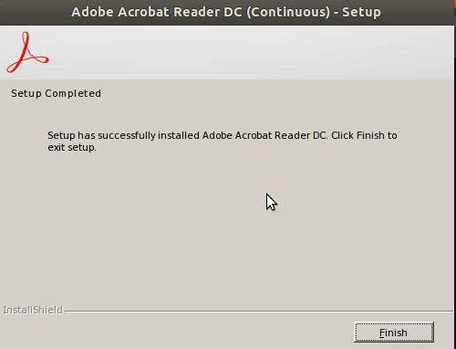 Adobe Acrobat Reader DC installation - Setup Completed
