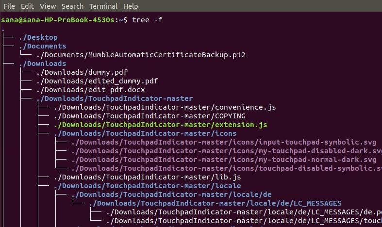 Display full path prefix of files
