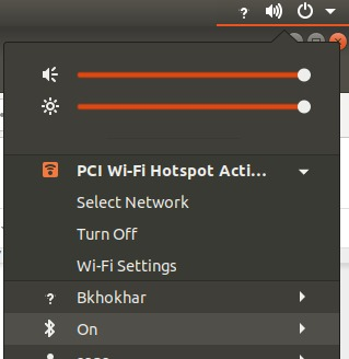 Alternative way to turn the W-Lan hotspot off.