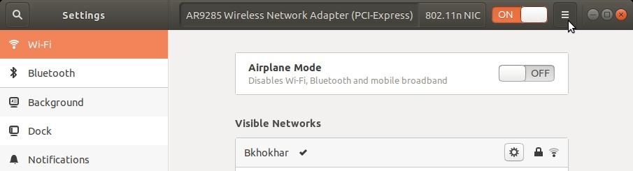 Wi-Fi network list