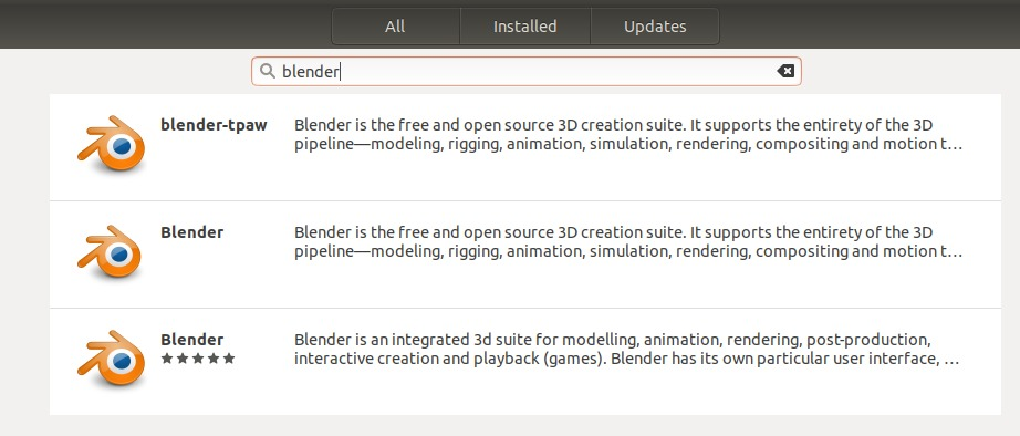Search for Blender