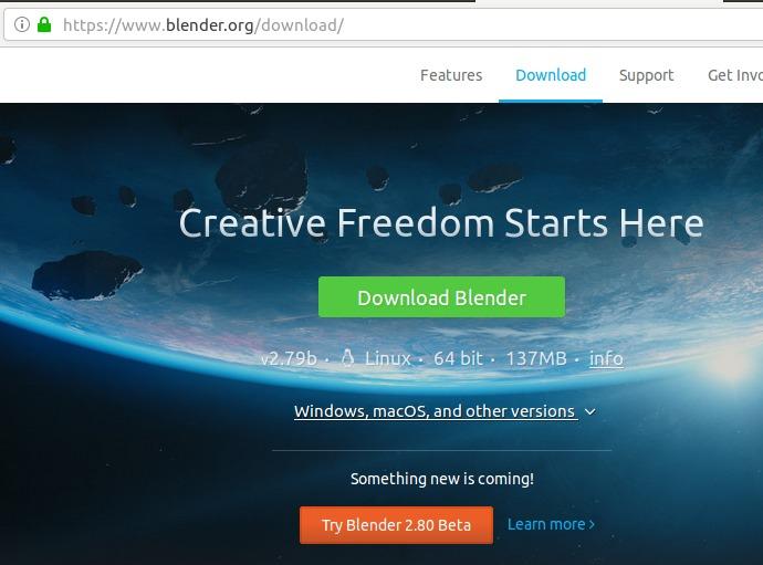 Download Blender from blender.org