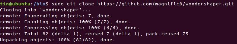 Clone Wondershaper GIT repository