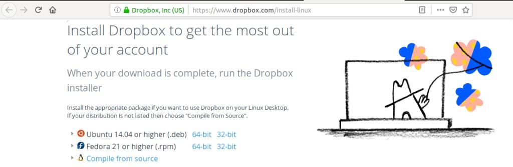 Download DropBox Linux client