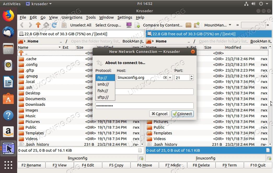 ubuntu ftp client - krusader