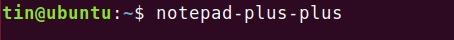 Start Notepad++ on Ubuntu