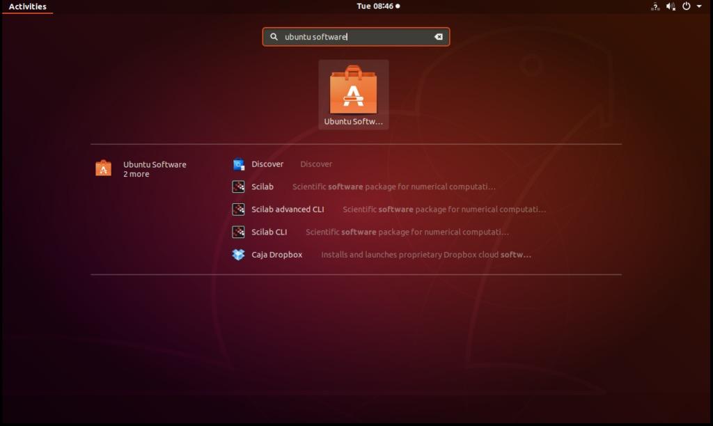 Search for Ubuntu Software