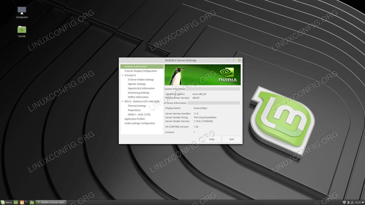 Latest official Nvidia drivers on Linux Mint 19 Tara