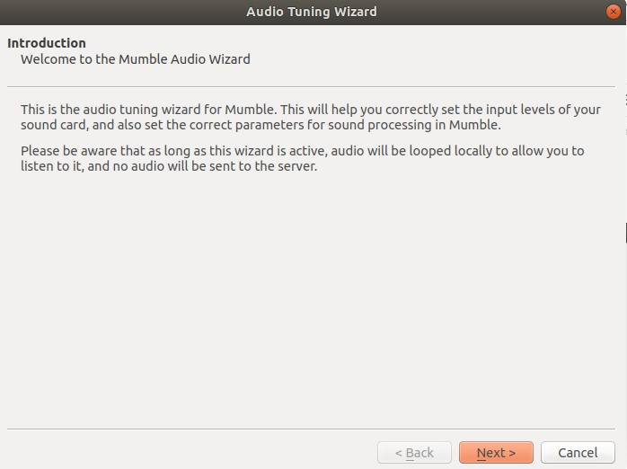 Audio Tuning Wizard