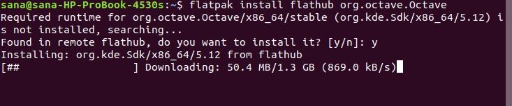 Install latest Octave version with Flatpak