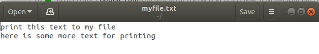 appending text with tee command