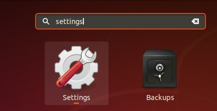 Search for settings utility on desktop