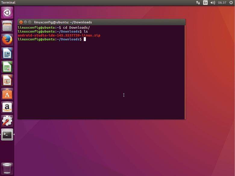 ubuntu 16.04 Xenial download android studio