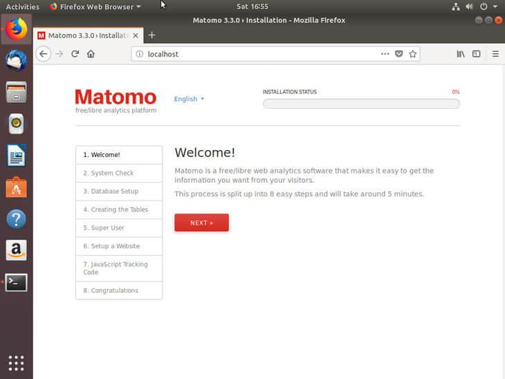 Ubuntu Bionic Begin Matmomo Install