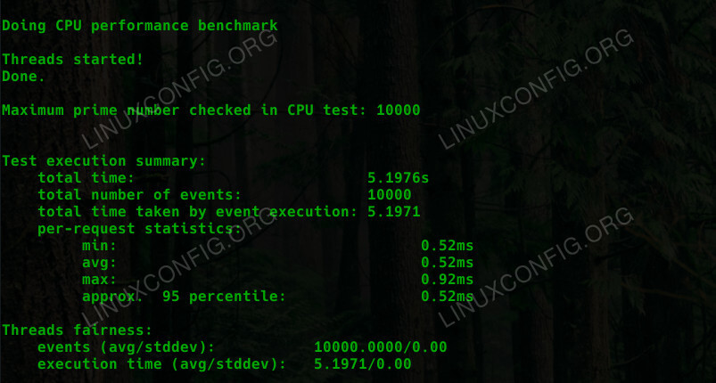 Sysbench CPU Benchmark