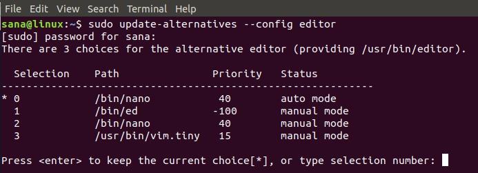 Change the Ubuntu default text editor