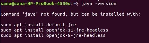 No Java installed