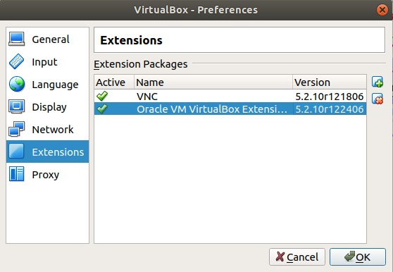 VirtualBox Extensions