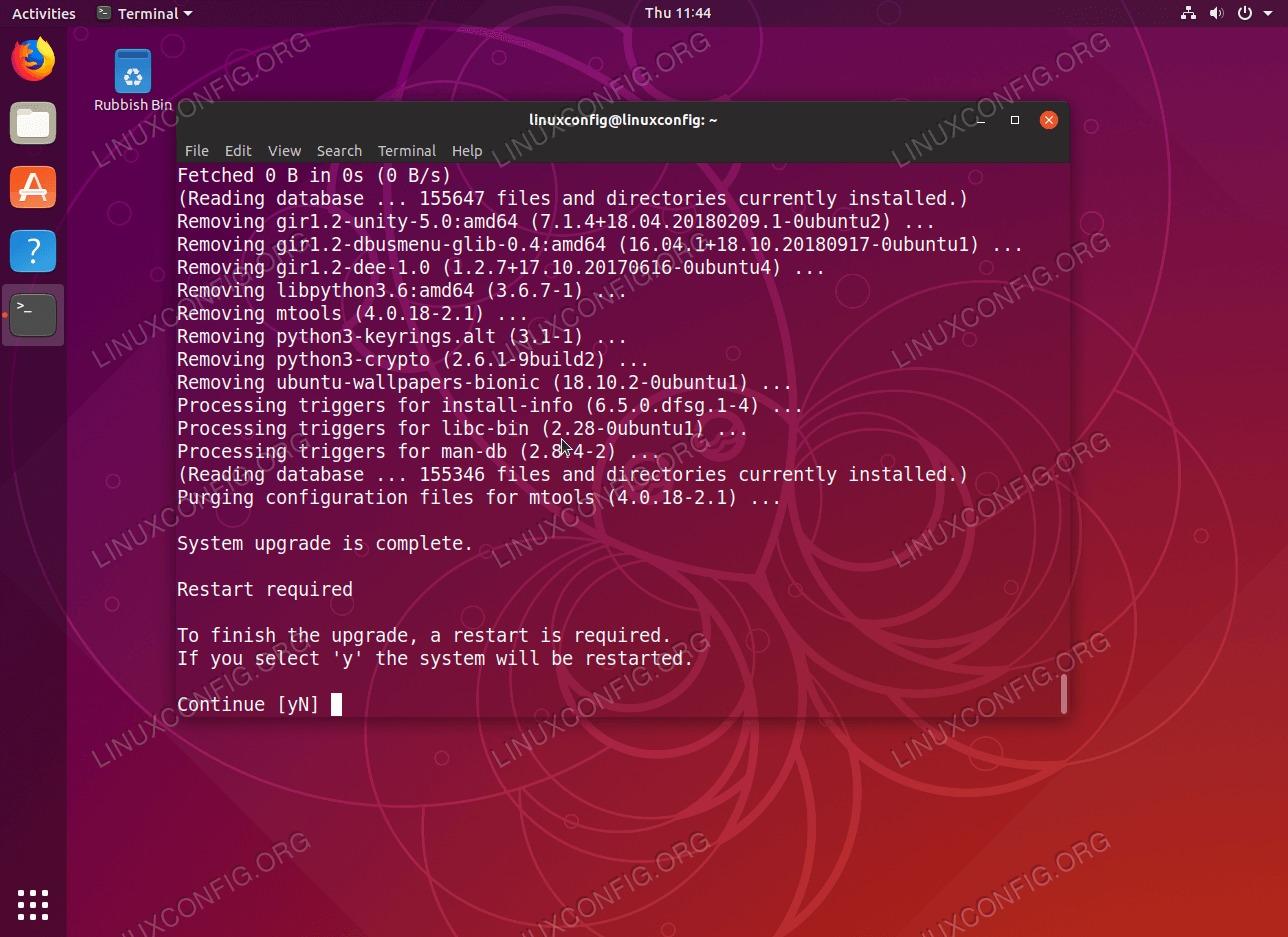 Completed upgrade from Ubuntu 18.10 to Ubuntu 19.04