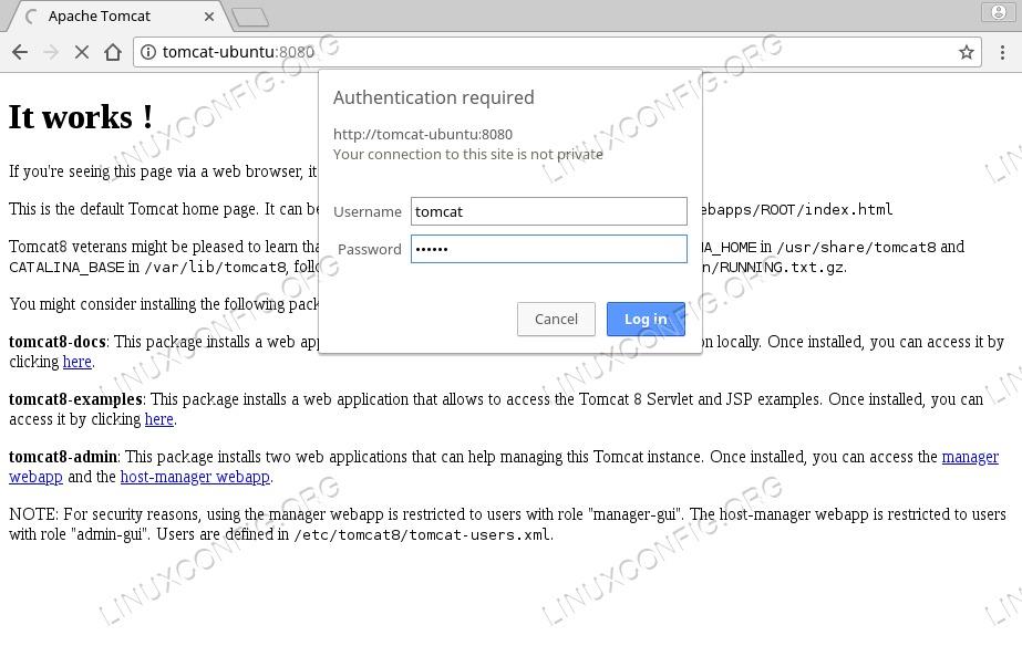 Tomcat Web Application Manager on Ubuntu 18.04
