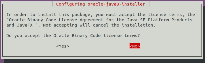 Accept Oracle Binary License