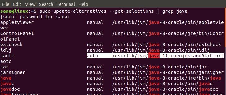 Set default Java version