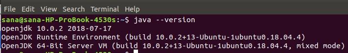 Check installed JAVA version
