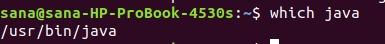 Java is installed in /usr/bin folder