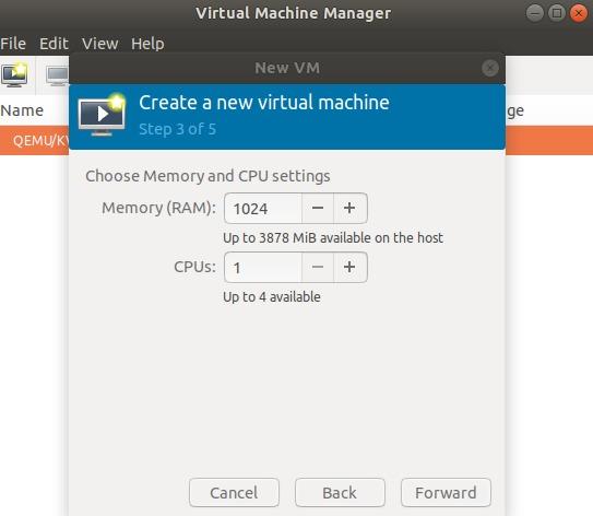 Memory and CPU settings