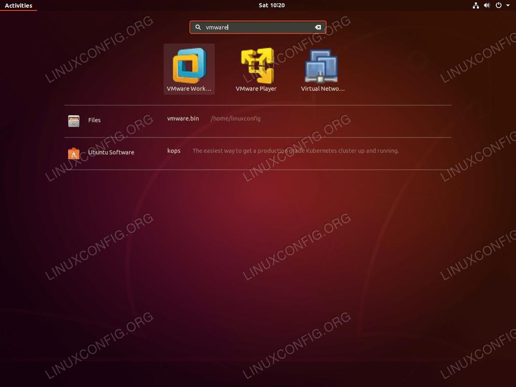 Launch VMware - Ubuntu 18.04