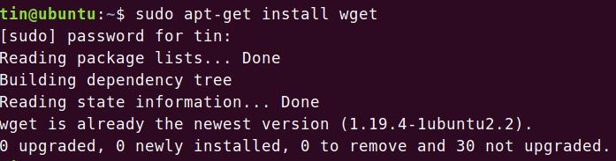 Install wget on Ubuntu