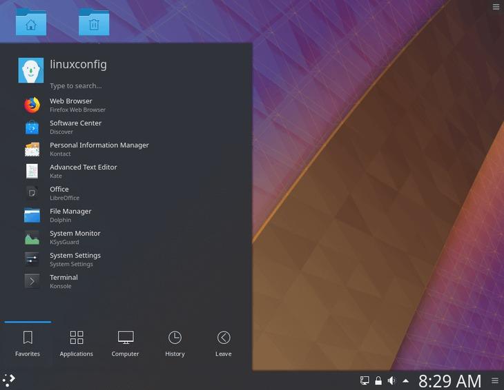 KDE plasma desktop ready