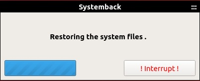 Restoring the system