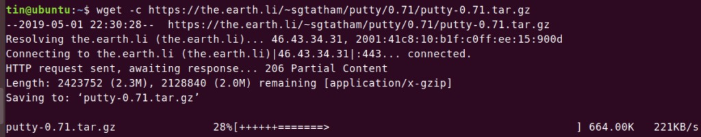 wget: Pause and Resume download