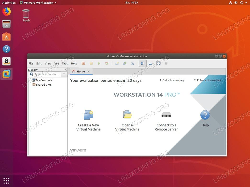 VMware Workstation PRO on Ubuntu 18.04