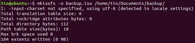 Use mkisofs to make a ISO file